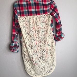 Taylor&Sage red and navy flannel Size XS